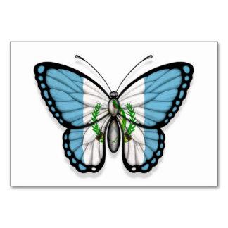 Bandera guatemalteca de la mariposa