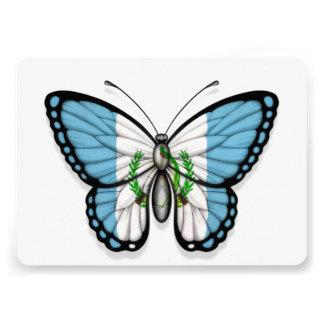 Bandera guatemalteca de la mariposa comunicado