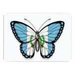 Bandera guatemalteca de la mariposa invitación 12,7 x 17,8 cm
