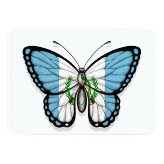 """Bandera guatemalteca de la mariposa invitación 5"""" x 7"""""""