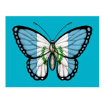 Bandera guatemalteca de la mariposa postal