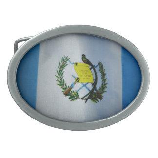 Bandera guatemalteca hebilla de cinturón oval