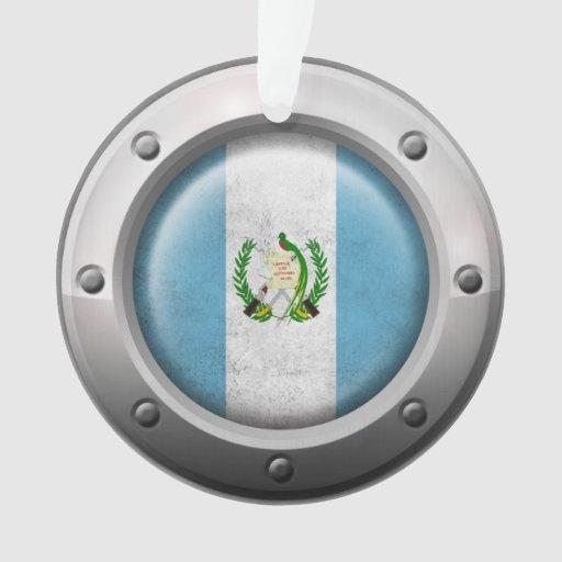 Bandera guatemalteca industrial con el gráfico de