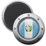 Bandera guatemalteca industrial con el gráfico de iman de nevera