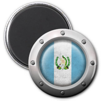 Bandera guatemalteca industrial con el gráfico de imán redondo 5 cm
