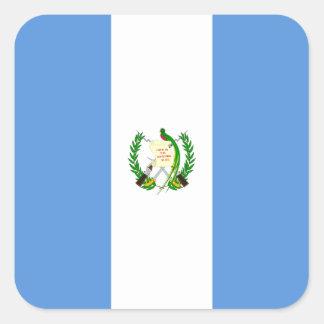 Bandera guatemalteca pegatina cuadrada