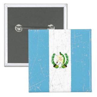 Bandera guatemalteca rascada y rasguñada pin