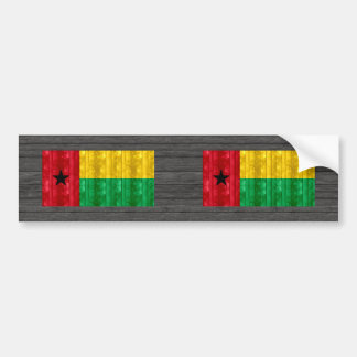 Bandera guineana de madera pegatina para auto