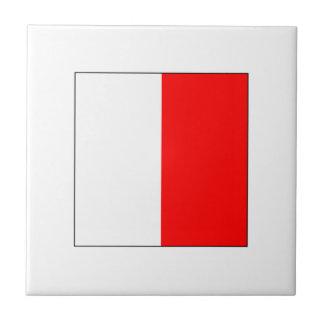 Bandera H del ICS Azulejo Cuadrado Pequeño