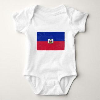 Bandera haitiana apenada polera