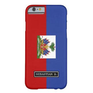 Bandera haitiana clásica funda para iPhone 6 barely there