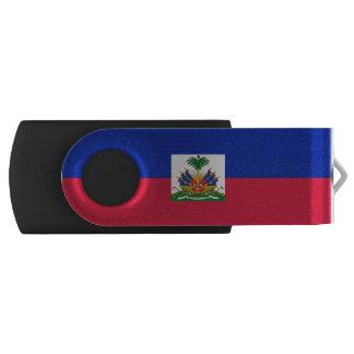 Bandera haitiana memoria USB 2.0 giratoria