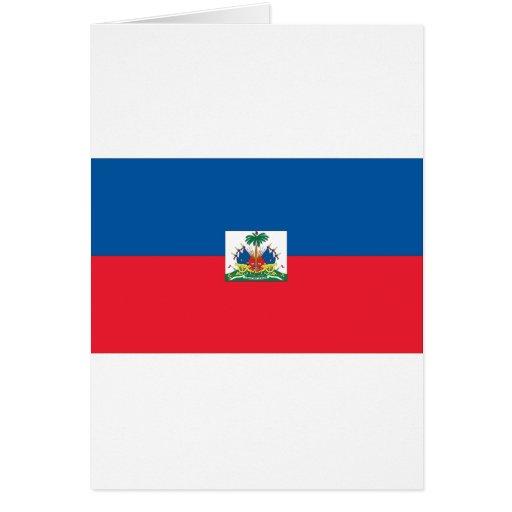Bandera haitiana tarjeta de felicitación