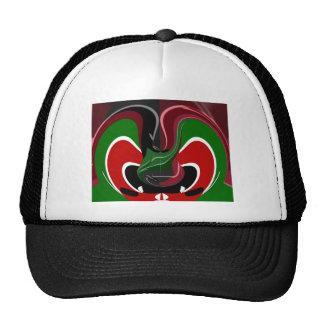 Bandera Hakuna Matata de Kenia de la taza de café Gorros Bordados