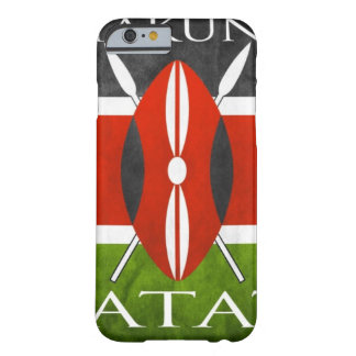 Bandera Hakuna Matata del Kenyan Funda De iPhone 6 Slim