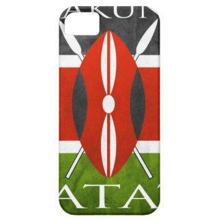 Bandera Hakuna Matata del Kenyan iPhone 5 Case-Mate Funda