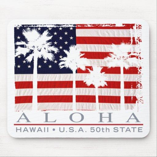 Bandera Hawaii Mousepad de la palma Tapete De Ratón
