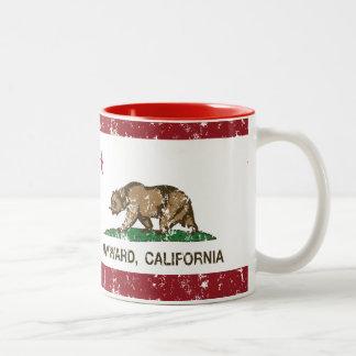 Bandera Hayward del estado de California Taza De Dos Tonos