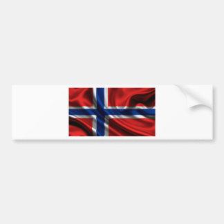Bandera HD lleno de Noruega Pegatina De Parachoque