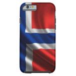 Bandera HD lleno de Noruega Funda De iPhone 6 Tough