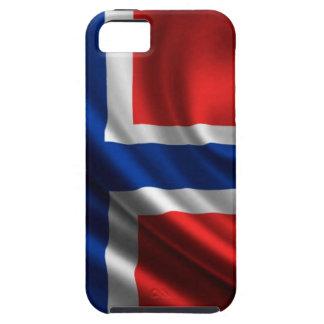 Bandera HD lleno de Noruega iPhone 5 Carcasa