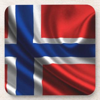 Bandera HD lleno de Noruega Posavasos De Bebidas