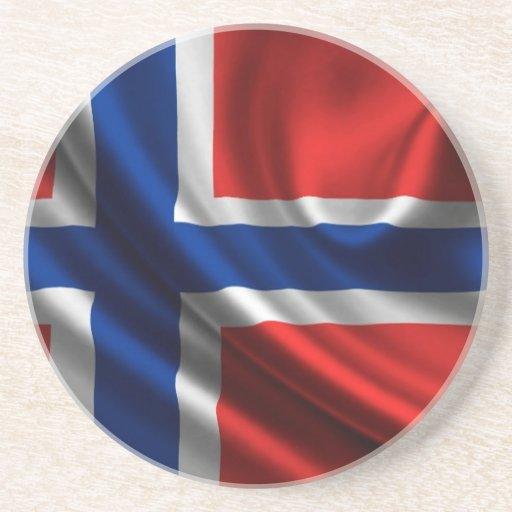 Bandera HD lleno de Noruega Posavasos Manualidades