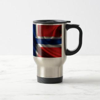 Bandera HD lleno de Noruega Taza Térmica