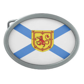 """Bandera """"hebilla del cinturón de Nueva Escocia de Hebilla Cinturón Oval"""