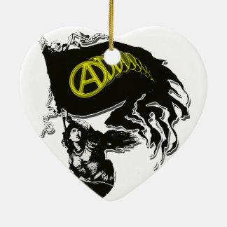 Bandera hecha andrajos capitalista de Anarcho con  Ornamento Para Reyes Magos