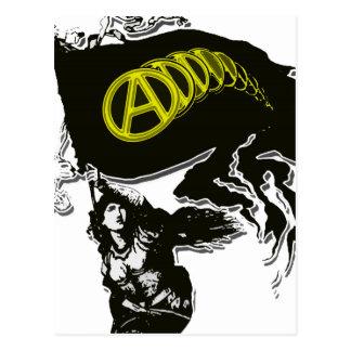 Bandera hecha andrajos capitalista de Anarcho con Tarjetas Postales