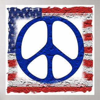 Bandera hecha andrajos de la paz impresiones