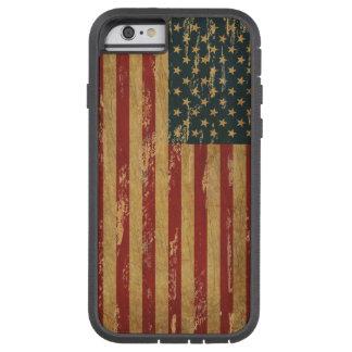 Bandera hecha andrajos vintage de los E.E.U.U. Funda De iPhone 6 Tough Xtreme
