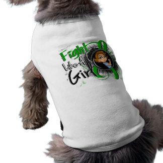 BANDERA hepática del dibujo animado de Rosie del c Camiseta De Perrito