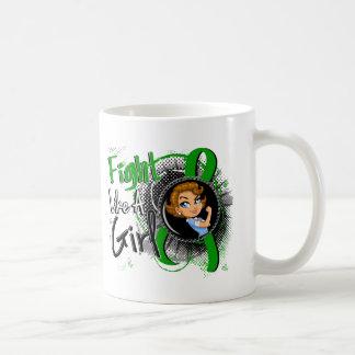 BANDERA hepática del dibujo animado de Rosie del c Taza De Café