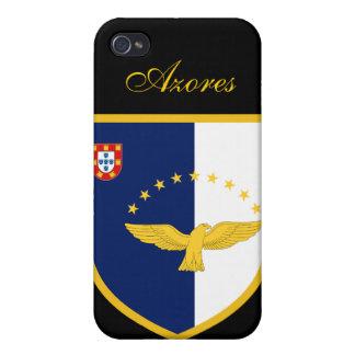 Bandera hermosa de Azores iPhone 4/4S Carcasa