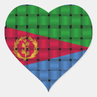 Bandera hermosa de Eritrea Pegatina En Forma De Corazón