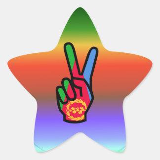 Bandera hermosa de Eritrea Pegatina En Forma De Estrella