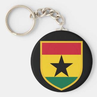 Bandera hermosa de Ghana Llavero Redondo Tipo Pin