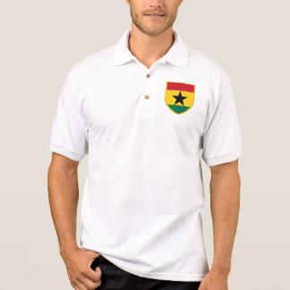 Bandera hermosa de Ghana Polo