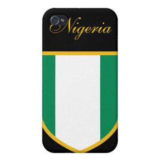 Bandera hermosa de Nigeria iPhone 4 Cárcasas
