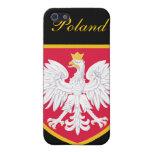 Bandera hermosa de Polonia iPhone 5 Carcasas