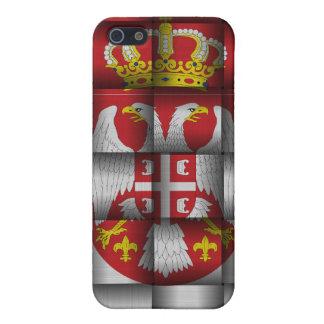 Bandera hermosa de Serbia iPhone 5 Carcasas