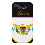 Bandera hermosa de United States Virgin Islands iPhone 4/4S Carcasas