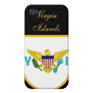Bandera hermosa de United States Virgin Islands iPhone 4/4S Carcasa