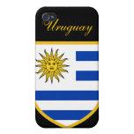 Bandera hermosa de Uruguay iPhone 4 Cárcasas