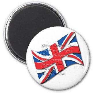 Bandera/himno de Reino Unido Imán Redondo 5 Cm