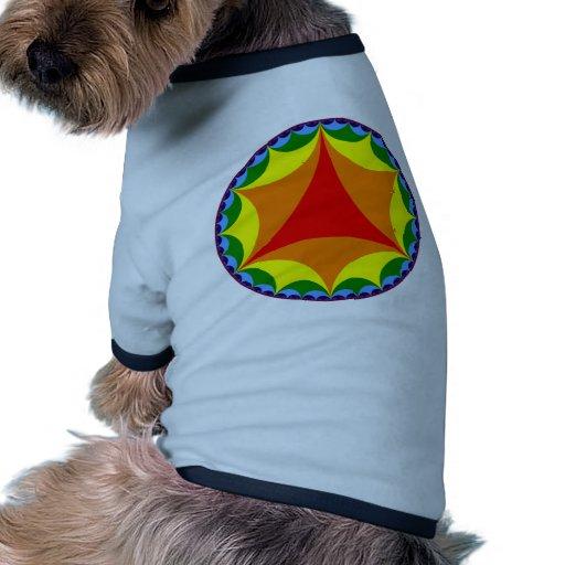 Bandera hiperbólica del arco iris camiseta con mangas para perro