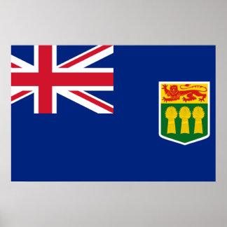 Bandera hipotética de Saskatchewan Poster