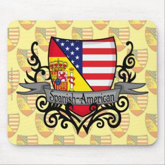 Bandera hispanoamericana del escudo mouse pads
